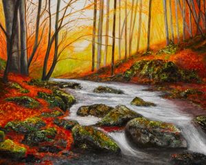 Autumn Sunset in the Wicklow Hills  SOLD